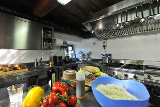 A Cooking Week at I Corbezzoli - Professional kitchen for great lunches and dinners.