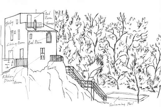 I Ruderi - Sketch of the layout at I Ruderi.
