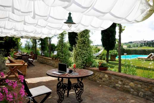 I Tre Cipressi - The loggia idea for relaxing in the shade.