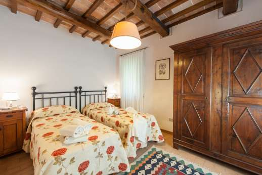 Il Cerro - The ground floor twin bedroom.