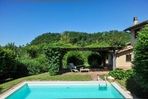 Il Cerro (x 2 people) with Staff and Cook - The private swimming pool, 3 x 6m/10 x 19 feet.