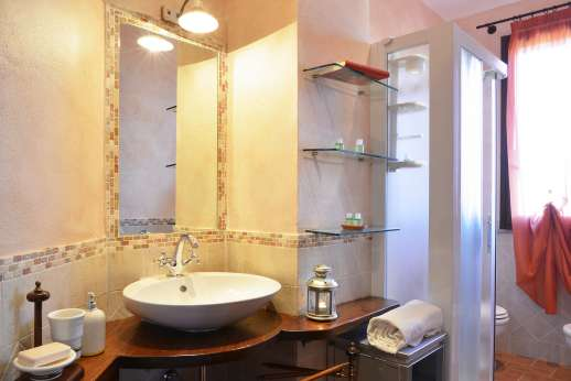 Il Chiesino - The shared bathroom with shower.