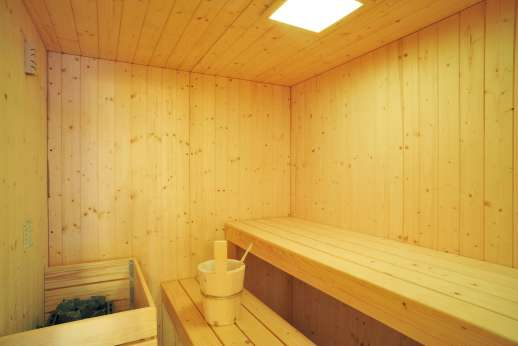 Il Cornello - A large sauna is set below the pool area.
