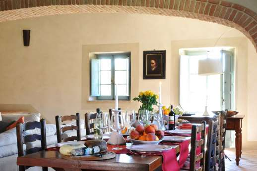 Il Cornello - The dining area.