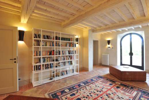 Il Cornello - First floor, Library room with a small terrace.