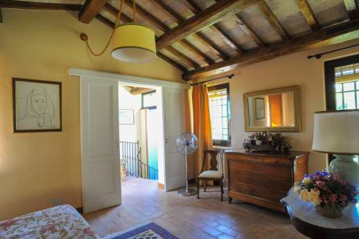 L'Olmo (x 2 people) with Staff and Cook - another view of the first floor bedroom