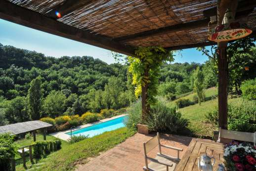 L'Olmo (x 4 people) with Staff and Cook - The private swimming pool, 6 x 15m/20 x 49 feet on the lower terrace