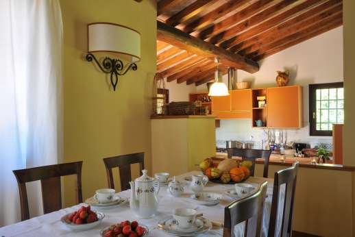L'Olmo (x 4 people) with Staff and Cook - Dining room and kitchen.