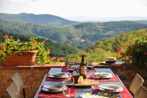 La Casa di Montegrossi - The amazing dining views