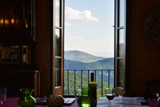 La Casa di Montegrossi - Beautiful views from the dining room