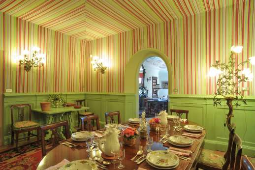La Fattoria di Sarteano - The vibrant dining room