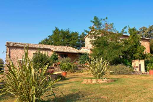 La Grande Quercia - A 14th century farmhouse is surrounded by acres of olive groves and meadows.