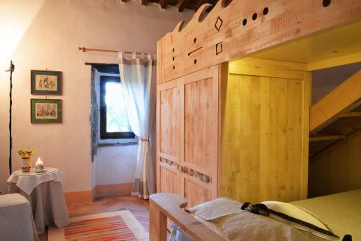 La Grande Quercia - Another view of the mezzanine bedroom.
