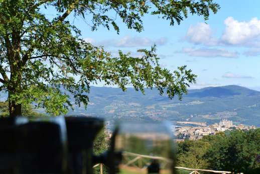 La Grande Quercia - Surrounded by acres of olive groves and meadows, with beautiful views of Orvieto on one side and rolling farmlands on the other.
