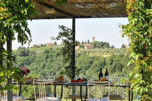 La Magione - Great views while al fresco dinning.