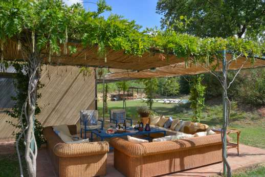 La Magione - The lounging shaded terrace.