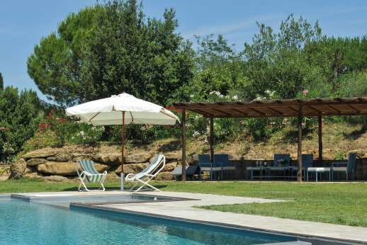 La Magione - The 6 x 12m swimming pool which has an attached shallow area for children.