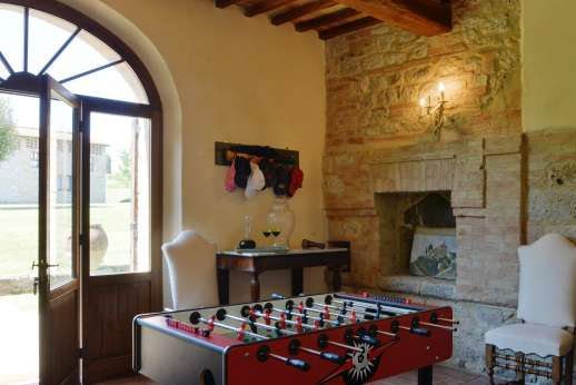 La Piana - Entrance hall and foosball table.