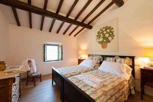 La Tegolaia - Another of the three twin bedrooms.