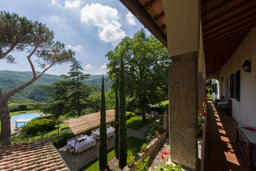 La Villa Di Petroio - Breathing taking views from the villa