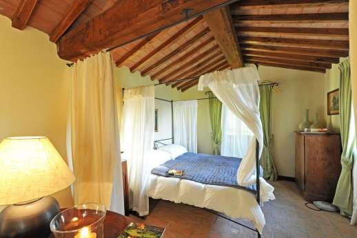Le Gorgacce - The guest house bedroom.