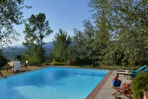Limonaia - Swimming pool 8 x 12 meters/26 x 38 feet, has a depth of 1.5-2.5m/5-8 feet with steps for entry/exit.