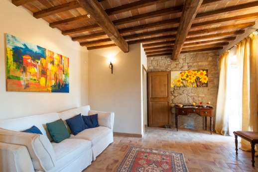 Podere Casalfava - Second small living room, ground floor.