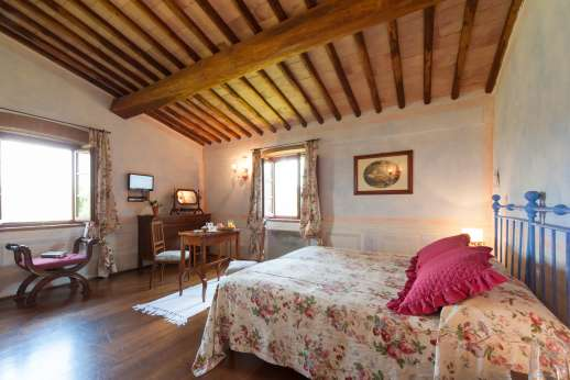 Podere Celli - Another of the double bedrooms. All are air conditioned.
