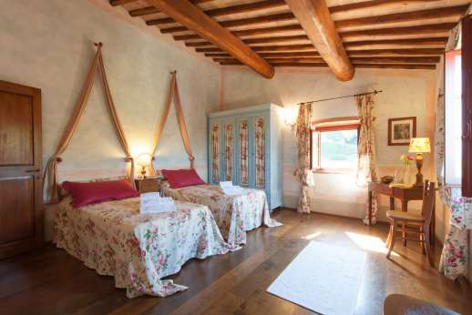 Podere Celli - One of the twin bedrooms.