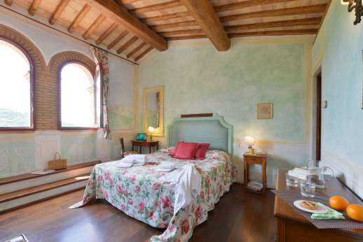 Podere Celli - Double bedroom with air conditioning.