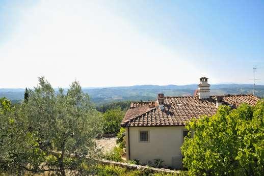 Podere Guicciardini - The magnificent view over the tuscan hills