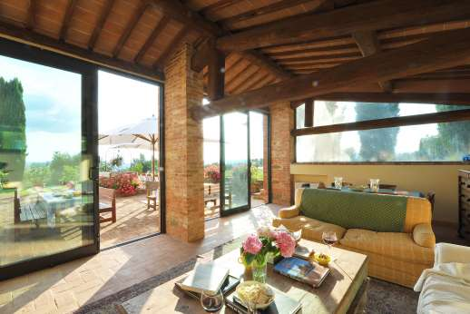 Podere Spiritellino - The large veranda/living room.