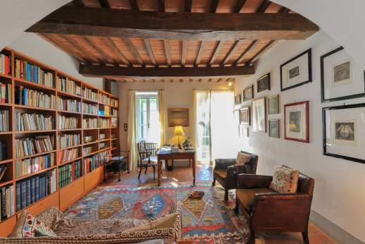 Poggio Alto - Another view of the ground floor library with access to outside