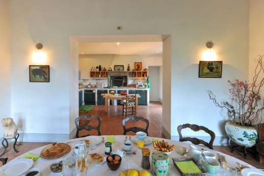 Poggio Alto - Extremely well equipped kitchen leads in the dining room or out to dine al fresco under the loggia.
