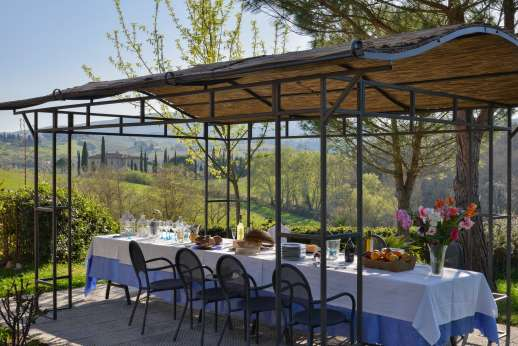 Rosa Dei Venti - View from the second pergola of the beautiful Tuscan countryside.