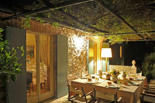 San Gabriele - The shaded pergola perfect for al fresco dining.