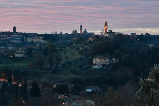 Santa Dieci - Never tire watching the sunset over Siena.