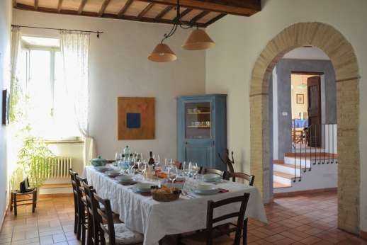 Santi Terzi (x 14 people) with Staff and Cook - Ground floor dining room