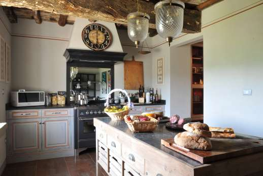 The Estate Of Petroio - Very well equipped kitchen with a professional cooker and a separate pantry in Il Borgo di Petroio