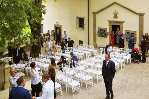Weddings at The Estate of Petroio - The entrance to the chapel and east guest wing