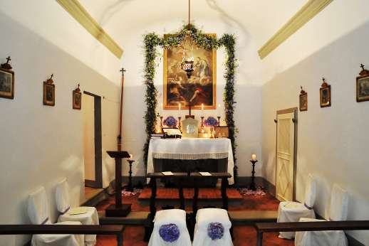 Weddings at The Estate of Petroio - The alter in the chapel.