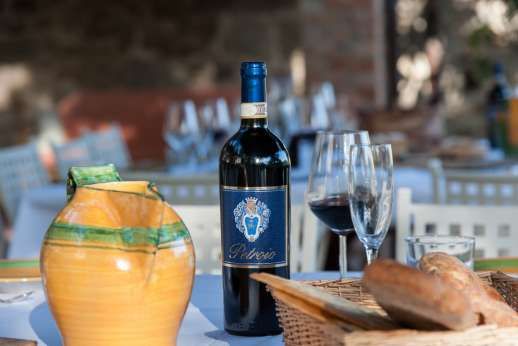 Weddings at The Estate of Petroio - Wine produced at the villa.