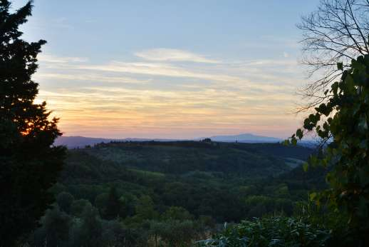 Tizzano - Picturesque views, bursting with colour at sunset.
