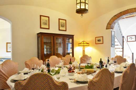 Tizzano - Formal dining room with lovely finishings on ground floor.