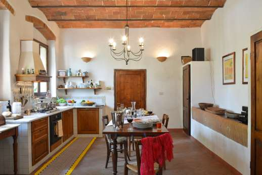 Val di Castello - The kitchen is in the Lower Ground Floor/East wing