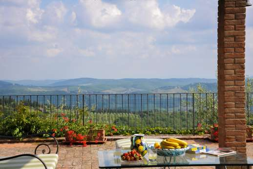 Villa al Monte - Magnificent views while enjoying your meal.