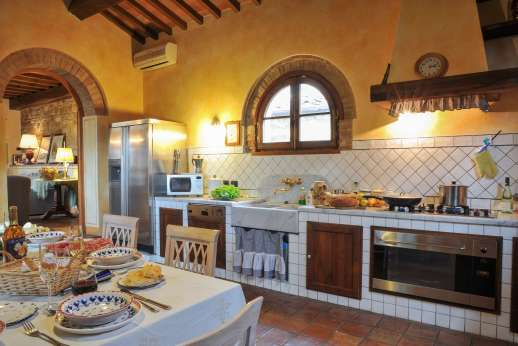 Villa Altea - Fully air conditioned kitchen leading through to the sitting room.