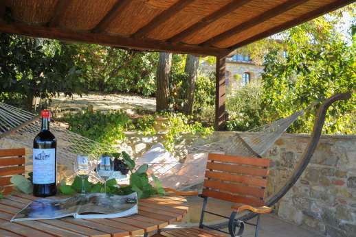 Villa Altea (x 8 people) with Staff and Cook - Shaded seating area.