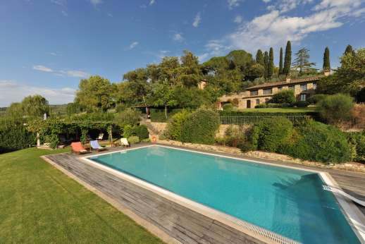 Villa Altea (x 8 people) with Staff and Cook - The pool is on a terrace set below the house.