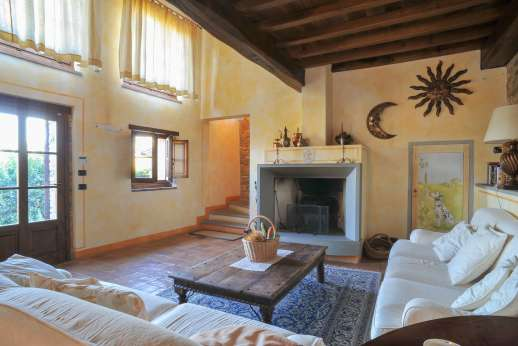 Villa Altea (x 8 people) with Staff and Cook - Sitting room with working fireplace.